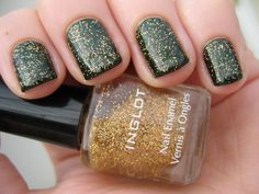 A green and gold nail polish!