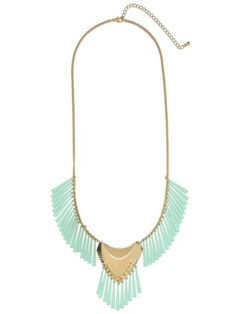 Mint Tribal Shield Necklace