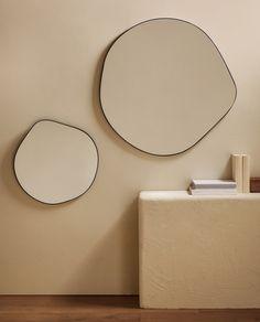 Zara Home New Collection Zara Home Mirror, Spiegel Design, Living Room Mirrors, Mirror Bedroom, Interior Decorating, Interior Design, Ikea Interior, Diy Mirror, Decorating Rooms