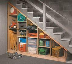 More under stairs storage ideas...