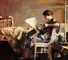 The Morning Paper (1913) William McGregor Paxton