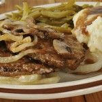 Hamburger Steak with Onions and Gravy