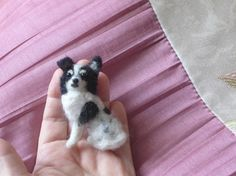 Your dog as a cute Pin / Custom  Needle Felted by GourmetFelted