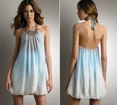 Blue Bubble Dress.
