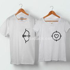 Bow And Arrow Hunting Love Couple Tshirt