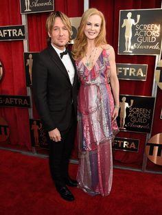Pin for Later: Régalez Vous Avec les Photos des Acteurs Présents aux SAG Awards Nicole Kidman et Keith Urban
