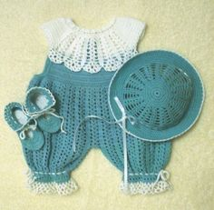 INSPIRATION ONLY NEWBORN ROMPER SET Thread Crochet Pattern Romper by SugarToeBabies ♡