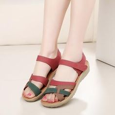 b88bfdac5003f8 ZZPOHE Mother sandals soft leather large size flat sandals summer casual  comfortable non - slip in
