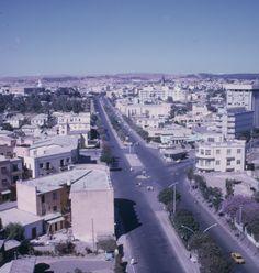 "Future development for city official, University and Sports league. Asmara, ""Eritrea"" from the Nyala Hotel. 1969."