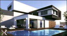 new modern house plan with two storey house design with roof deck with house pai. - new modern house plan with two storey house design with roof deck with house paint calculator inter - Residential Architecture, Contemporary Architecture, Architecture Design, New Modern House, Modern House Design, Modern Deck, Modern Homes, Villa Design, Deck Design