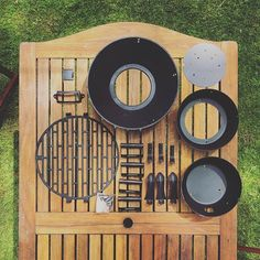 This years nano-bbq kindly brought to you by the material:cast iron the country: unknown and the layout #knoll #summer #maker #bbq #knolling #workavoidance