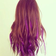 Red hair with purple highlights