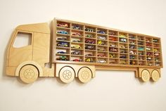 Toy Car 'Truck' Shelf Model Car Shelving Unit by IconAndCoWales