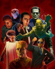 """Séptimo 7 sello: Especial de Halloween : Dioses o Monstruos. Antología con los espantos del cine. Fotos, lobbycards, afiches y comentarios. No te lo pierdas. Está """"de miedo""""."""