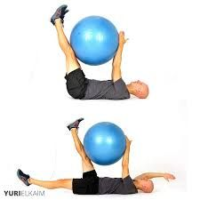 Image result for exercise ball exercises