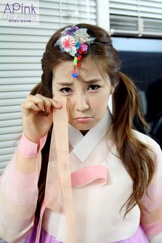 Apink Chorong in Korean Traditional Clothing 'Hanbok'