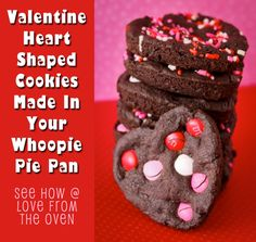 #Valentine Heart Shaped #Cookies by Love From The Oven