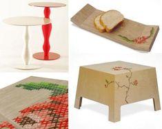 cross stitched furniture!