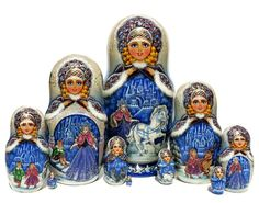 GreatRussianGifts.com - Snow Queen 10 Piece Nesting Doll, http://www.greatrussiangifts.com/snow-queen-10-piece-nesting-doll/