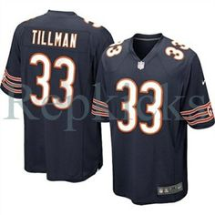 Nike Chicago Bears Charles Tillman Game Team Color Jersey  2bd5f6c38