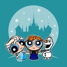 Frozen Powerpuff Girls Mashup Tee   Mickey Fix