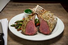 Rack of Lamb Tender rack of lamb topped with a special blend of spices, grilled to perfection & served with mint jelly Mint Jelly, Rack Of Lamb, Steak, Grilling, Spices, Cooking Recipes, Dishes, Food, Spice