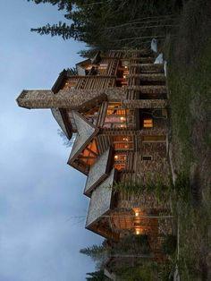 Gorgeous Log Home Log Cabin Homes, Log Cabins, Dream Homes, My Dream Home, Future House, My House, Log Home Living, Log Houses, Rustic Homes