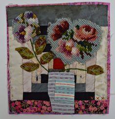 Mandy Pattullo/Thread and Thrift: Log cabin flowers