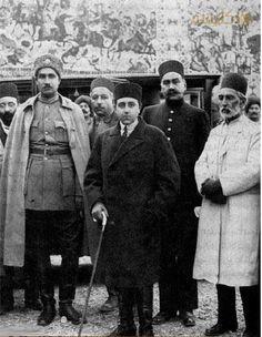 رضا شاه به همراه احمد شاه