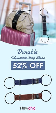 [Click to SHOP] Durable Adjustable Bag Strap#newchic#travel#organizer