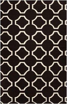 Jill Rosenwald Fallon Black Flat Weave Area Rug - Surya | domino.com