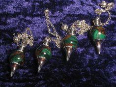 Malachite Pendulum  Crystals Spiritual by NamasteSpiritualShop
