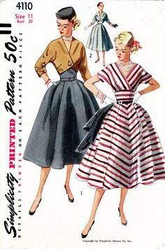 Vintage Sewing Pattern  1950s Junior Misses One by thehalfhouse