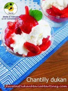 Chantilly Dukan (Fresas con nata Dukan)