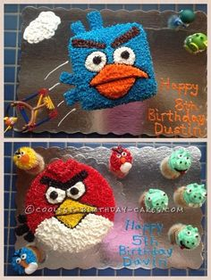 Angry Birds Cakes: Red Bird, Ice Bird and Cupcakes... This website is the Pinterest of birthday cake ideas