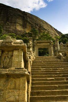 #57 Yapahuwa in Sri Lanka. Yapahuwa was an ancient capital of Sri Lanka, where you can still see the ruins of the rock fortress complex.