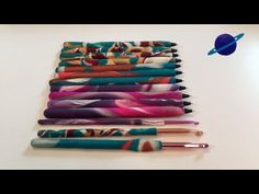 Polymer Clay Pen/Crochet Hooks Tutorial - YouTube