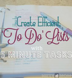 How to Create Efficient 'To Do' Lists with 5 Minute Tasks