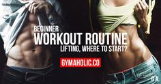 You are a beginner and you want to lift weights, but you don't where to start? Gymaholic gives you workout advice you must follow in order to build muscle mass.