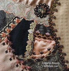 Crazy quilting ribbon embroidery . . . crazy quilt block hand