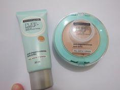 Assista esta dica sobre Base e Pó  Maybelline Pure Makeup  pele oleosa teste…