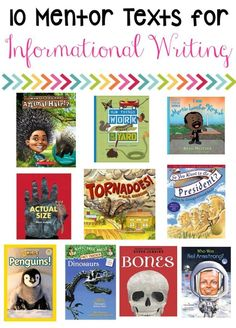 Informational writing is best with mentor text activities! It makes the writing prompts much more creative! (Freebie Included)                                                                                                                                                                                 More