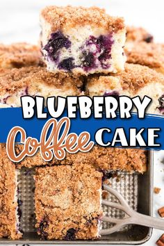 This Blueberry Coffee Cake is an old-fashioned recipe that withstands the test of time! Fresh blueberries with just a hint of cinnamon. So moist and filled with blueberries, it makes the perfect breakfast or afternoon coffee break. Cake Recipes, Dessert Recipes, Yummy Smoothies, Perfect Breakfast, Coffee Cake, Quick Easy Meals, Delicious Desserts, Blueberry, Sweet Tooth