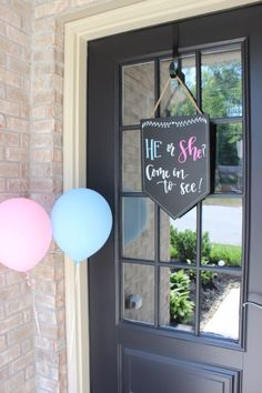 Super Baby Shower Signs For Boys Front Doors Gender Reveal Ideas Deco Baby Shower, Shower Bebe, Baby Shower Signs, Baby Shower Themes, Baby Shower Parties, Shower Ideas, Shower Party, Bridal Shower, Gender Reveal Box