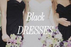 Black bridesmaid dresses Black Bridesmaids, Black Bridesmaid Dresses, Wedding Things, Wedding Stuff, Renewal Wedding, Tank Tops, Pretty, Ideas, Women