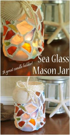 30 Gorgeous Mosaic Projects To Beautify Your Home And Garden - DIY & Crafts Mosaic Flower Pots, Mosaic Pots, Mosaic Diy, Mosaic Crafts, Mosaic Tables, Sea Glass Mosaic, Stained Glass Lamps, Sea Glass Art, Glass Wall Art
