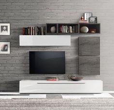 Perfect parete attrezzata moderna e di design bianco for Az arredamenti napoli