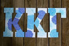 Large Custom Hand Painted Greek and Sorority Letters by rskelton, $26.00