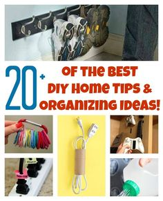 The BEST DIY Home Organizing Hacks - easy and cheap home organization ideas that will declutter your home!