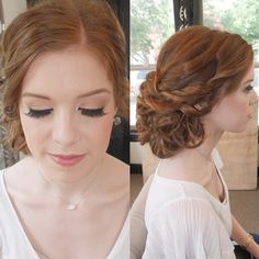 Bridal Makeup / Bride Hair / Updo / Side Style / Curls & Twists / English Rose / Natural Makeup / Airbrushed / False Lashes / The Milestone Aubrey bride / Texas Wedding / Denton / Dallas / Makeup Artist / Hairstylist / Stephanie Nelson Makeup & Hair / #snmakeuphair